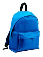 Backpack with pocket blue color