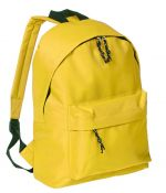 Backpack with pocket yellow color