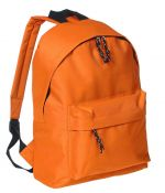 Backpack with pocket orange color
