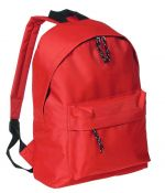 Backpack with pocket red color