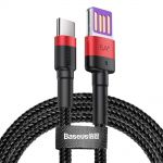USB / USB-C cable 5A 1m Baseus black-red