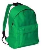 Backpack with pocket green color